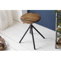 Otočná stolička bez operadla Larnaka 38-60 cm akácia prírodná
