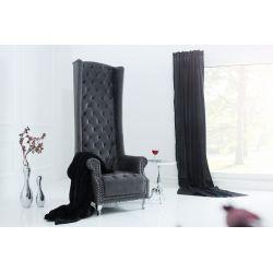Extravagantné kreslo Royal Chair 185 cm antická šedá