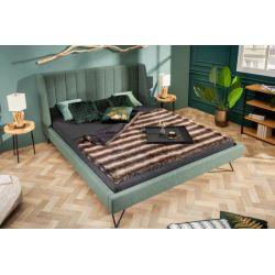 Manželská posteľ s vysokým čelom Helsing 160x200 cm zelená