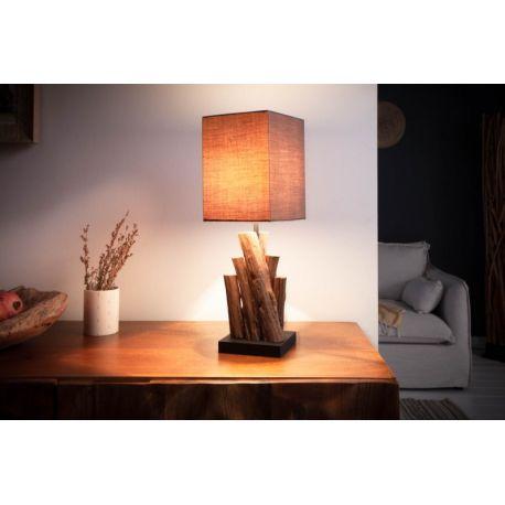 Nočná lampa s tienidlom Paradise 45 cm naplavené drevo hnedá
