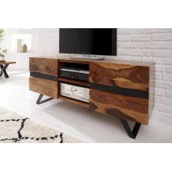 TV stolík na nožičkách s dvierkami Meridian 160 cm sheesham masív