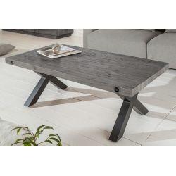 Konferenčný stolík Saurus 110 cm borovica masív 50 mm sivý