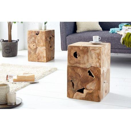Bočný stolík Block 30 cm masívny teak
