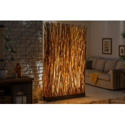 Vysoká stojacia lampa Vento 180 cm longan prírodná