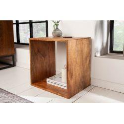 Dizajnový bočný stolík Mandalle 43 cm masív mango