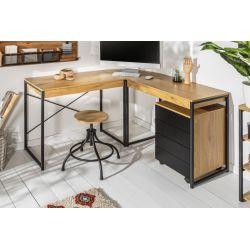 Rohový písaci stôl Salon 130 cm MDF dub