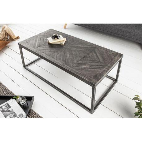 Konferenčný stolík Myriad Home 100 cm mango sivý