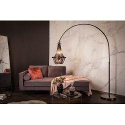 Stojanová lampa Superior 170-210 cm mramor kov čierna