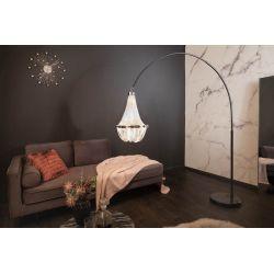 Stojanová lampa Superior 189-204 cm mramor kov strieborná