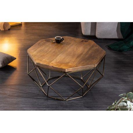 Konferenčný stolík Lost Gem 69 cm masív mango kov