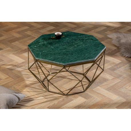 Konferenčný stolík Lost Gem 69 cm mramor zelený