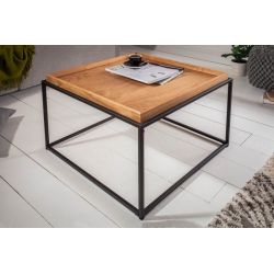 Konferenčný stolík so servírovacím podnosom Fusion 60 cm dub