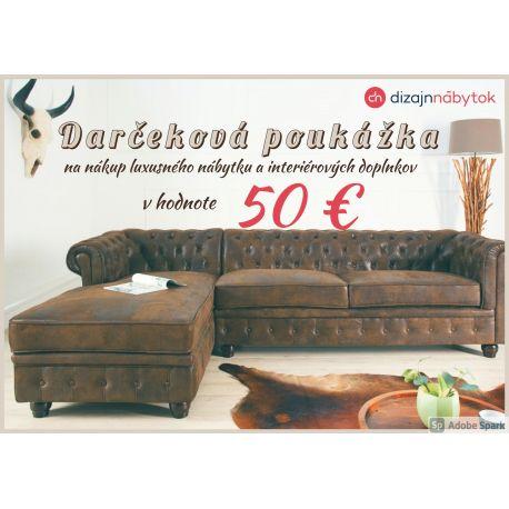 Darčeková poukážka v hodnote 50 €