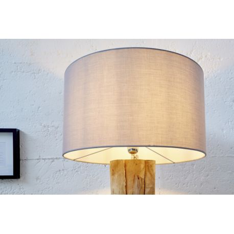 Tienidlo na stojanovú lampu Roots 50 cm ľan šedé
