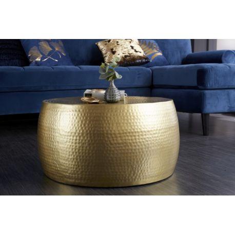 Okrúhly konferenčný stolík Mansour II 60 cm kov-hliník zlatý