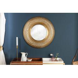 Okrúhle zrkadlo Mansour 60 cm kov-hliník zlaté