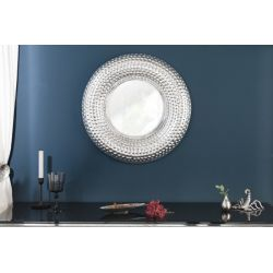 Okrúhle zrkadlo Mansour 60 cm kov-hliník strieborné