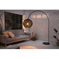 Stojanová lampa Swan 205 cm mramor kov abaka čierna