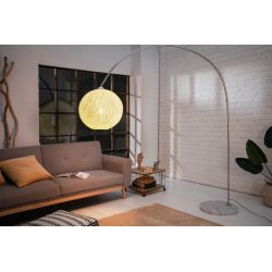 Stojanová lampa Swan 205 cm mramor kov abaka biela