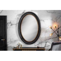 Oválne zrkadlo Venice 135 cm drevený rám zlaté čierne