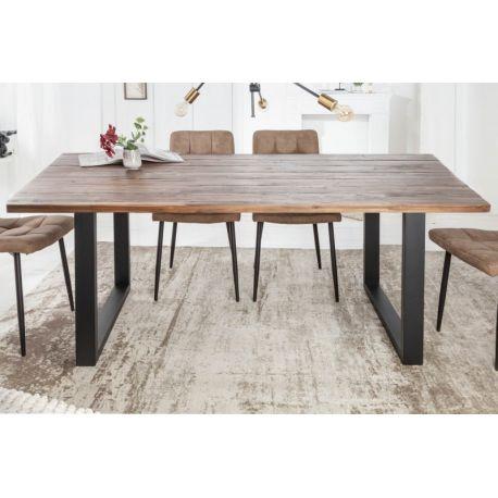 Masívny stôl do jedálne Wotan II 180 cm akácia šedý