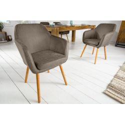 Stolička s operadlom Supreme masívne drevo mikrovlákno šedá