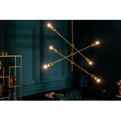Dizajnové závesné svietidlo Momentum kov zlaté