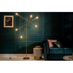 Dizajnová stojanová lampa Momentum 163 cm kov zlatá
