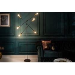 Dizajnová stojanová lampa Momentum 163 cm kov čierna zlatá