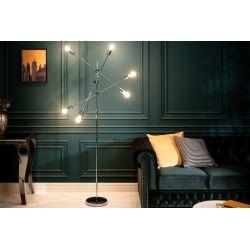 Dizajnová stojanová lampa Momentum 163 cm kov strieborná