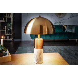 Nočná lampa Goldhart 52 cm mramor kov zlatá