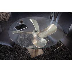 Okrúhla sklenená doska na stôl s priemerom 105 cm