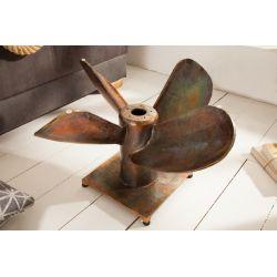 Konferenčný stolík Propeller 85 cm kov medený SAMOSTATNÝ RÁM