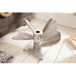 Konferenčný stolík Propeller 85 cm kov strieborný SAMOSTATNÝ RÁM
