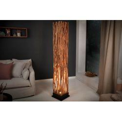 Dizajnová stojanová lampa Wood Art 175 cm drevo longan
