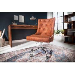 Kancelárska stolička Viktorián svetlohnedá