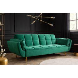 Rozkladacia pohovka na spanie Fortune 215 cm smaragdovozelená