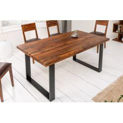 jedálenský stôl 140 cm masívny sheesham drevo