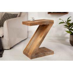 Masívny bočný stolík Z 45 cm drevo mango