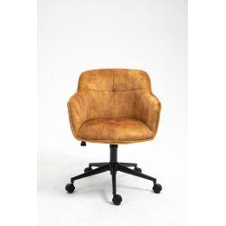 Kancelárska stolička Sirocco horčicová žltá zamat