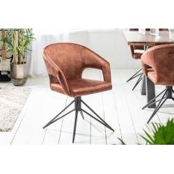 Otočná stolička Eternity hnedá zamat (2ks)