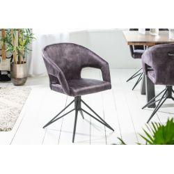 Otočná stolička Eternity sivá zamat (2ks)
