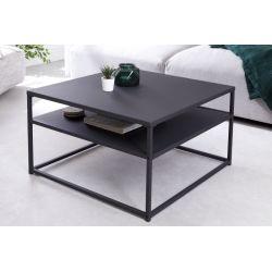 Industriálny konferenčný stolík Compact Steel 70 cm kov čierny