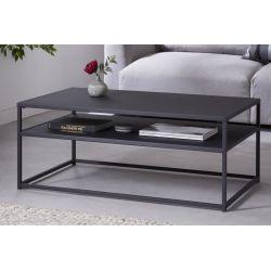 Industriálny konferenčný stolík Compact Steel 100 cm kov čierny