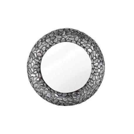 Nástenné zrkadlo Mosaic Stone 80 cm kov sivé