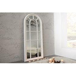 Nástenné zrkadlo Casa Bianco 140 cm vintage vzhľad sivé biele