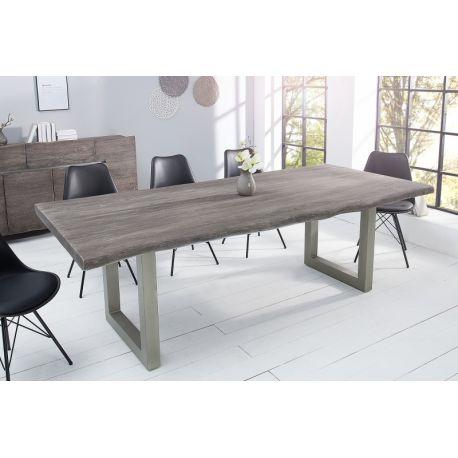 Masívny jedálenský stôl Action 220 cm akácia 60 mm sivý