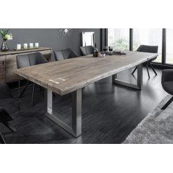 Masívny jedálenský stôl Action Artwork 220 cm akácia 60 mm sivý