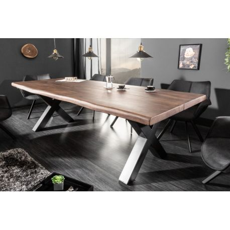 Masívny jedálenský stôl Stream 220 cm akácia 60 mm octový