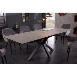 Jedálenský stôl Eternity 180-225 cm keramika sklo kov betónový vzhľad